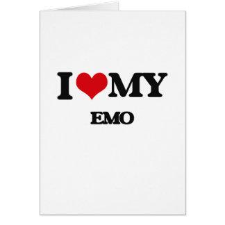 I Love My EMO Greeting Card