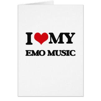 I Love My EMO MUSIC Greeting Card