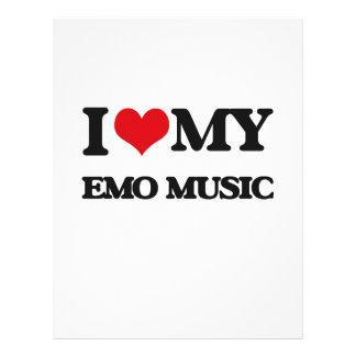 I Love My EMO MUSIC Flyers