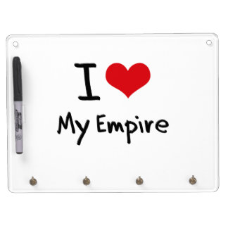 I love My Empire Dry Erase Board With Keychain Holder