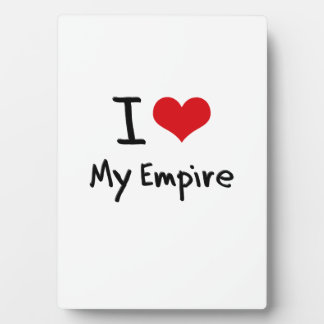 I love My Empire Photo Plaques