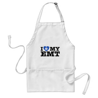 I Love My EMT Adult Apron
