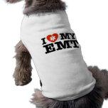 I Love My EMT Dog T Shirt