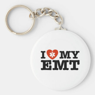I Love My EMT Keychain