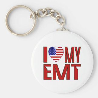I Love My EMT Keychains