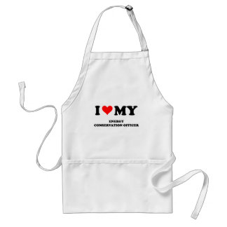 I Love My Energy Conservation Officer Aprons