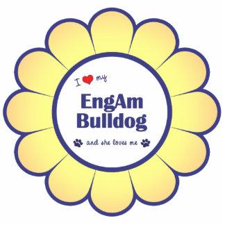 I Love My EngAm Bulldog (Female Dog) Statuette