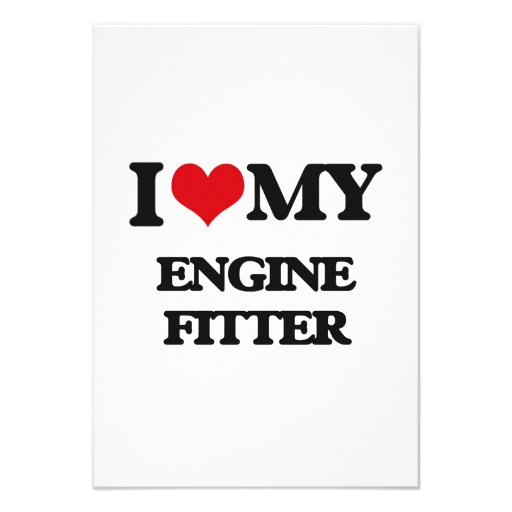 I love my Engine Fitter Personalized Invite