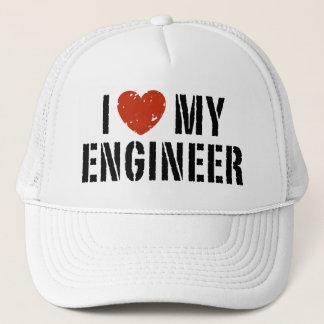 I Love My Engineer Trucker Hat