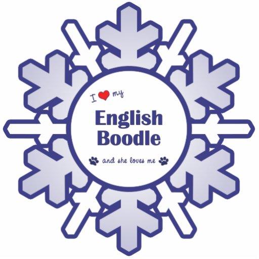 I Love My English Boodle (Female Dog) Cut Outs