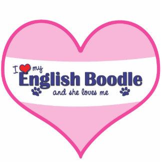 I Love My English Boodle (Female Dog) Acrylic Cut Outs