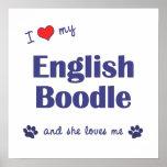 I Love My English Boodle (Female Dog) Poster Print
