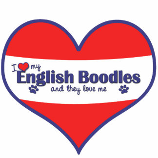 I Love My English Boodles (Multiple Dogs) Photo Sculptures