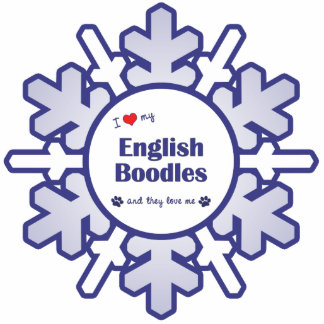 I Love My English Boodles (Multiple Dogs) Photo Cutout
