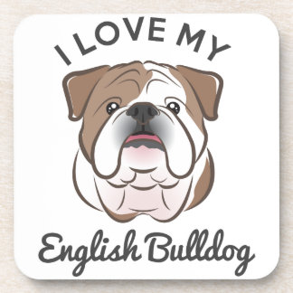 """I Love My English Bulldog"" Coaster Set"