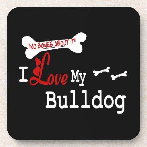 I Love My English Bulldog Coasters