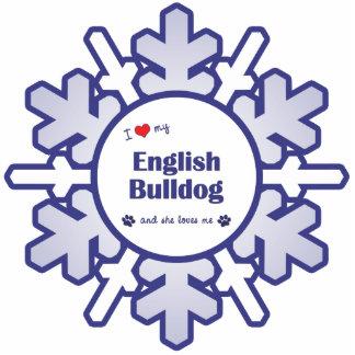 I Love My English Bulldog (Female Dog) Cutout