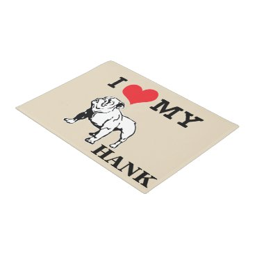 Professional Business I Love My English Bulldog Mat | Personalize It!
