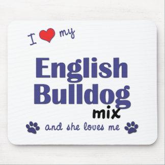 I Love My English Bulldog Mix (Female Dog) Mouse Pad