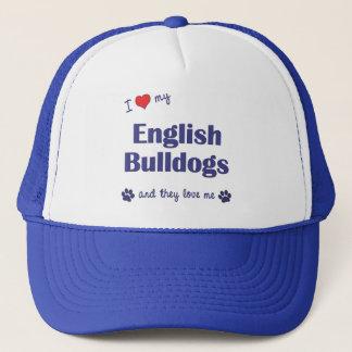 I Love My English Bulldogs (Multiple Dogs) Trucker Hat