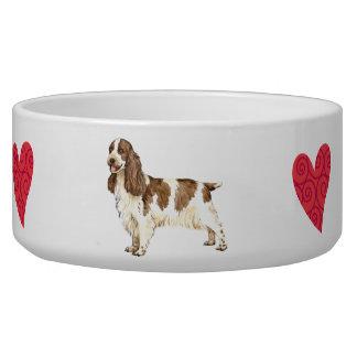 I Love my English Cocker Spaniel Bowl