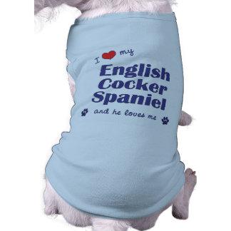 I Love My English Cocker Spaniel (Male Dog) Shirt