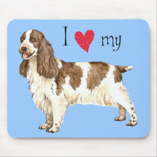 I Love my English Cocker Spaniel Mouse Pad