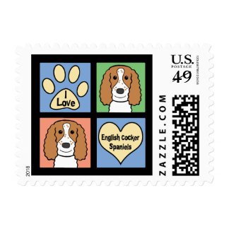 I Love My English Cocker Spaniel Postage