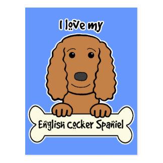 I Love My English Cocker Spaniel Postcard