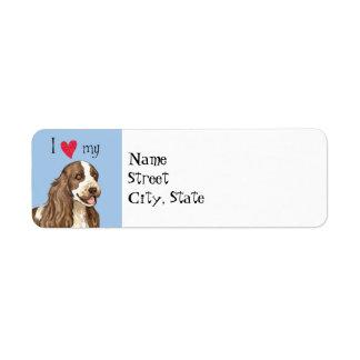 I Love my English Cocker Spaniel Return Address Label