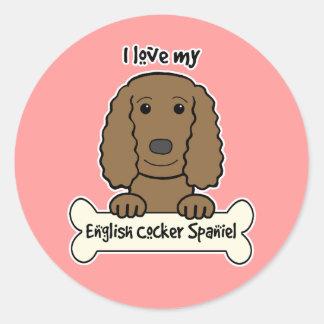 I Love My English Cocker Spaniel Sticker
