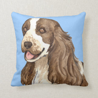 I Love my English Cocker Spaniel Throw Pillow