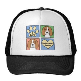 I Love My English Cocker Spaniel Trucker Hat