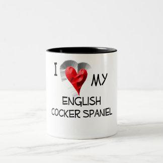 I Love My English Cocker Spaniel Two-Tone Coffee Mug