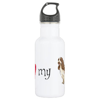 I Love my English Cocker Spaniel Water Bottle