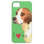 I Love my English Foxhound iPhone 5 Case