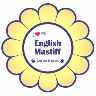 I Love My English Mastiff (Female Dog) Cut Outs