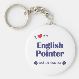 I Love My English Pointer (Female Dog) Keychain