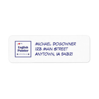 I Love My English Pointer (Female Dog) Custom Return Address Labels