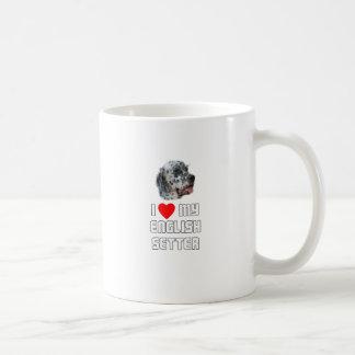 I Love My English Setter Coffee Mug