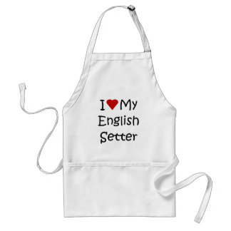 I Love My English Setter Dog Breed Lover Gifts Adult Apron