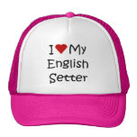 I Love My English Setter Dog Breed Lover Gifts Trucker Hat
