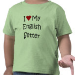 I Love My English Setter Dog Breed Lover Gifts Tee Shirts