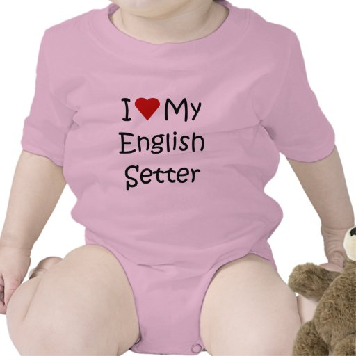 I Love My English Setter Dog Breed Lover Gifts T Shirt