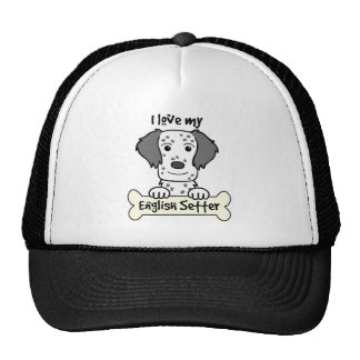 I Love My English Setter Trucker Hat