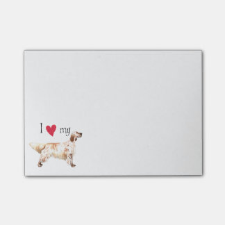 I Love my English Setter Post-it® Notes