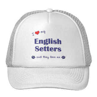 I Love My English Setters (Multiple Dogs) Mesh Hat