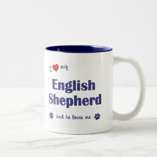 I Love My English Shepherd Male Dog Coffee Mugs