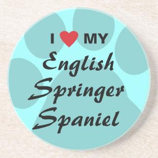I Love My English Springer Spaniel Coaster