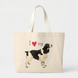 I Love my English Springer Spaniel Large Tote Bag